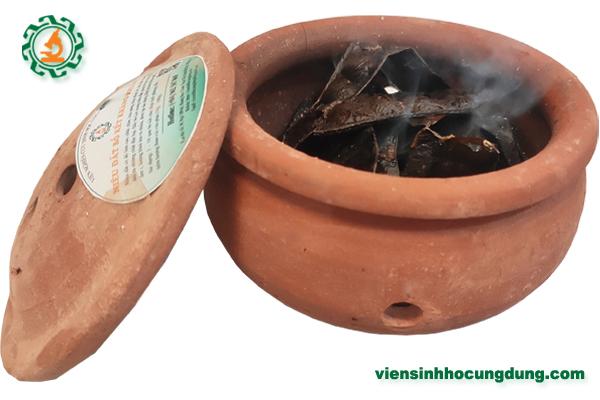 Niêu đất xông khói bồ kết kháng khuẩn