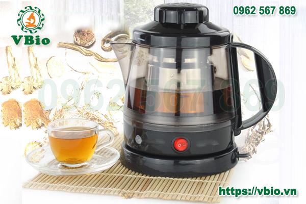 Ấm hãm trà thảo dược, bột thuốc bắc VBio