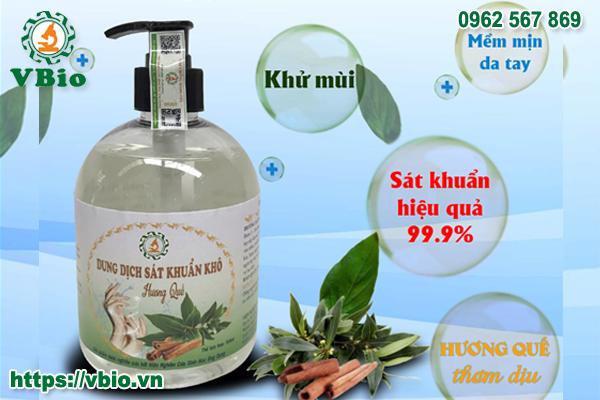Dung dịch rửa tay khô hương quế 500ml
