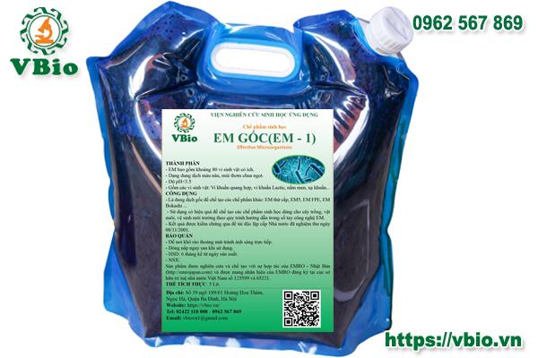 Chế phẩm EM1 (túi10 lít)