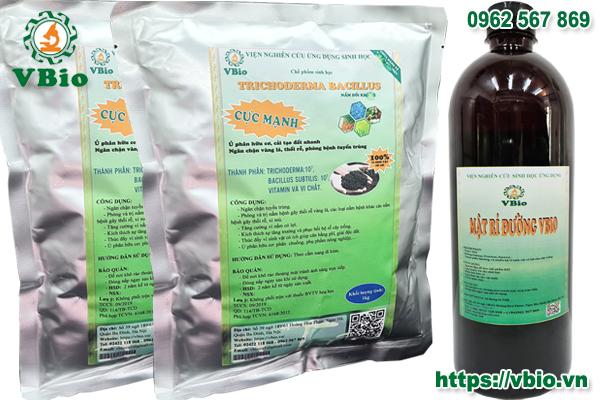 Combo 2 túi nấm trichoderma (1kg) và 1 chai mật rỉ đường 1 kg